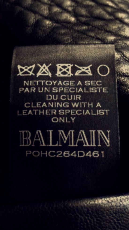Balmain Balmain Black Leather Collared Biker Jacket Size US M / EU 48-50 / 2 - 7