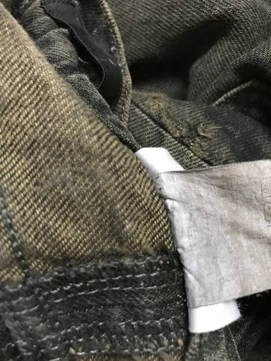 Julius Japanese Designer JULIUS7 Made in Japan Distressed Curved in Legs Denim Pant Size US 33 - 16