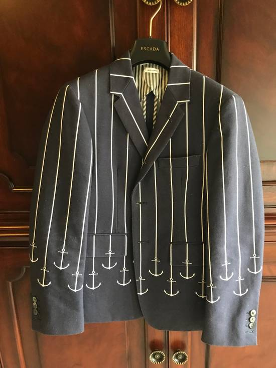 Thom Browne Thom Browne SS13 Navy Canvas Shorts Suit With Anchors (size 0 Blazer, Size 1 Shorts) Size 34S