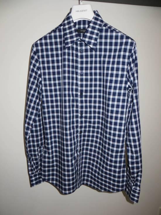 Givenchy Blue check- shirt Size US M / EU 48-50 / 2 - 2