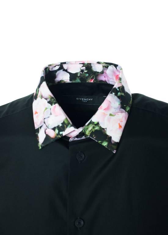 Givenchy Givenchy Men's Black Polo W/ Floral Collar Size US XXS / EU 40 - 1