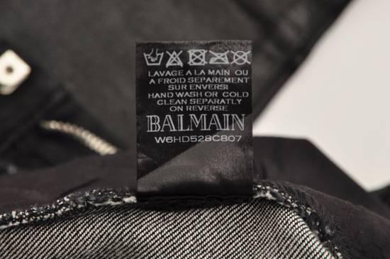 Balmain 1265$ Skinny Coated Stretch Denim Biker Jeans Size US 27 - 11