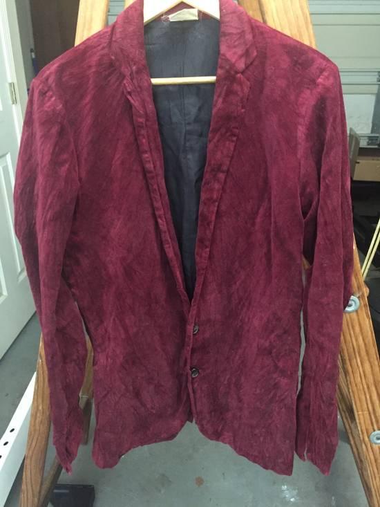 Julius AW03 Blood Red Velvet Blazer Size US M / EU 48-50 / 2 - 5
