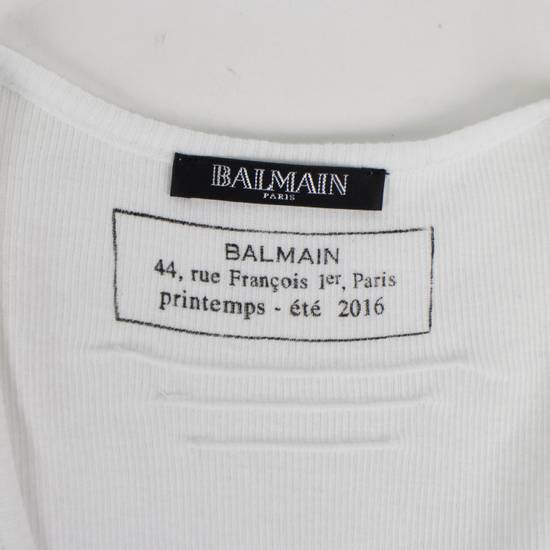 Balmain White Cotton Ribbed Tank Top Size S Size US S / EU 44-46 / 1 - 4