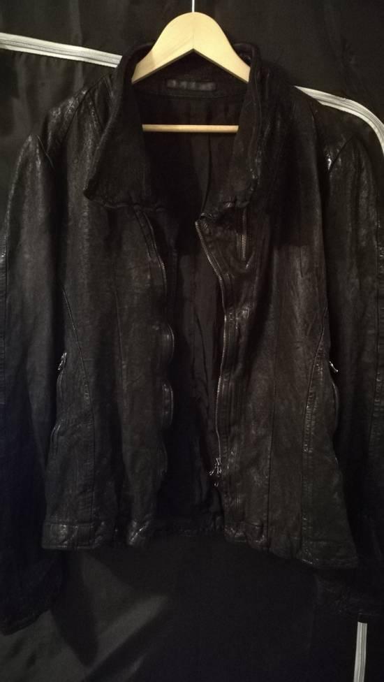 Julius BNWT Size 4 Moldable Collar Leather High Neck Jacket Size US XL / EU 56 / 4 - 6