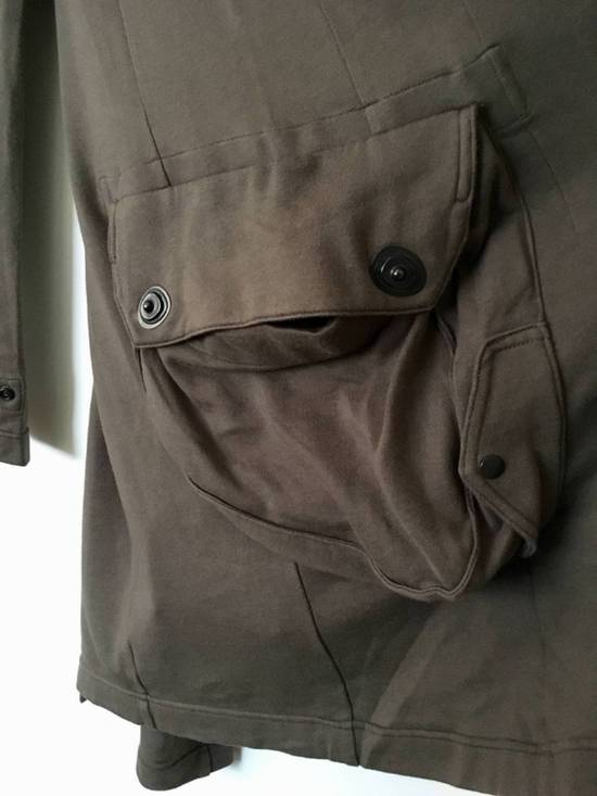 Julius Japan made long jersey oversize Popper fastening Gasmask pocket jacket Size US S / EU 44-46 / 1 - 3