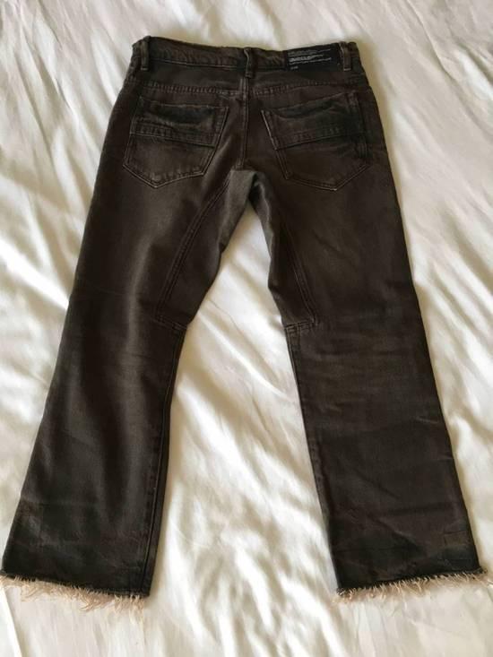 Julius Japan made cropped wrinkle and dirt effect distressed frayed hem Jeans Size US 28 / EU 44 - 12
