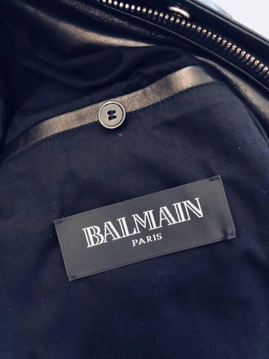 Balmain Full Leather Bomber Jacket Size US M / EU 48-50 / 2 - 3