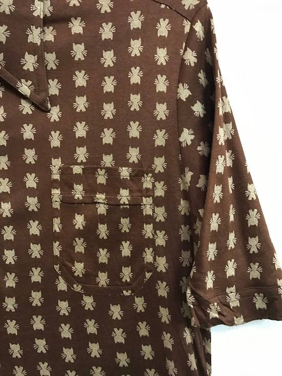 Givenchy Luxury Designer GIVENCHY Gentleman Paris Made in France Atomic Print Retro Collar Shirt Size US M / EU 48-50 / 2 - 3