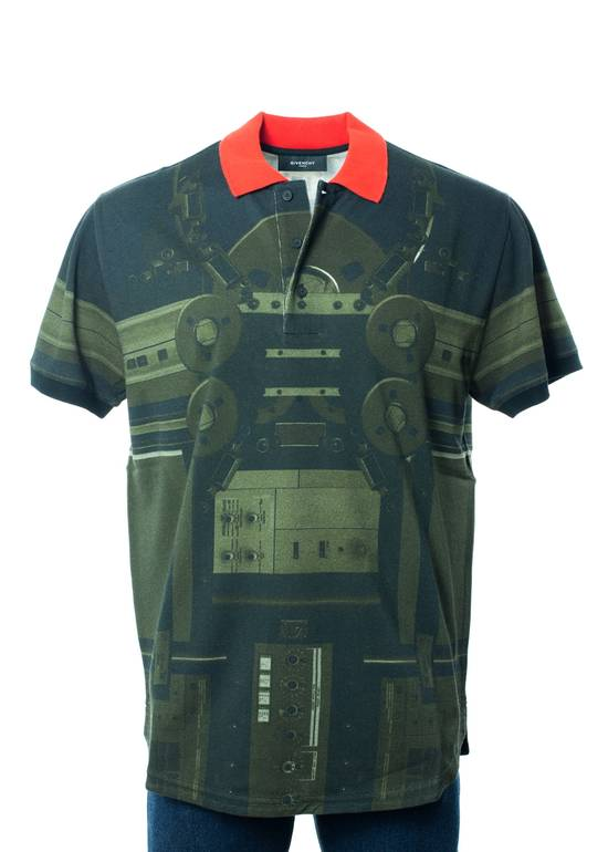 Givenchy Givenchy Men's Olive & Red Printed Graphic Polo Shirt Size US S / EU 44-46 / 1