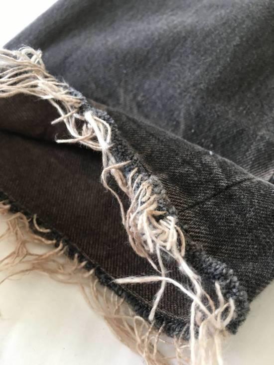 Julius Japan made cropped wrinkle and dirt effect distressed frayed hem Jeans Size US 28 / EU 44 - 5