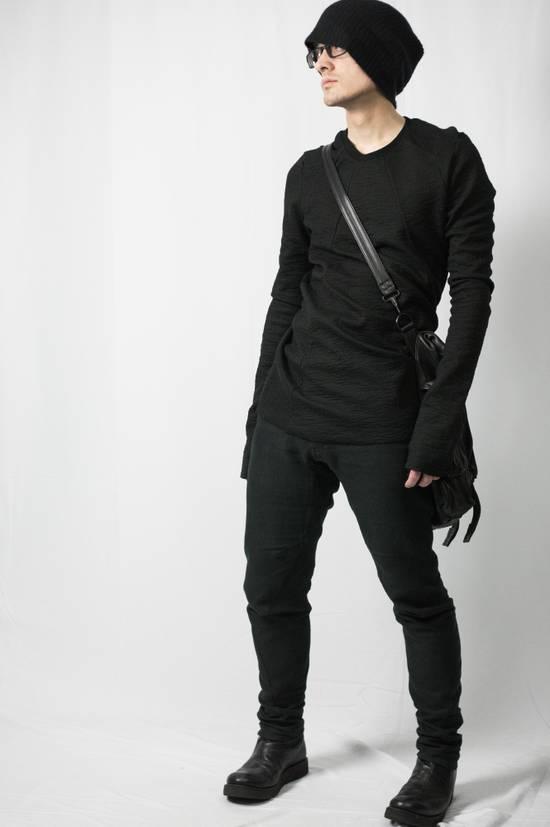 Julius AW09 Black Leather Satchel/Messenger/Shoulder/Tote Bag Size ONE SIZE - 5