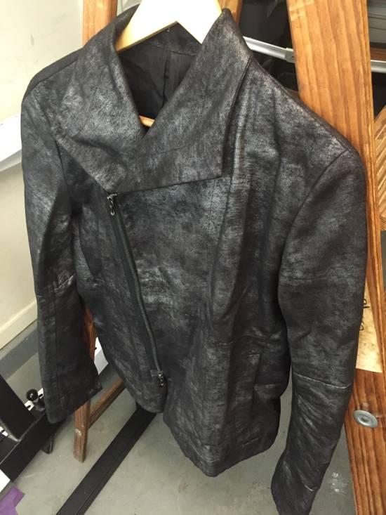 Julius FW07 Black/Silver Coated Cotton Jacket Size US M / EU 48-50 / 2 - 7