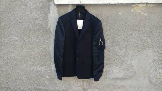 Givenchy $2100 Givenchy Navy Blue Bomber Sleeves Wool Stars Blazer Jacket size 48 (S / M) Size 48S - 1