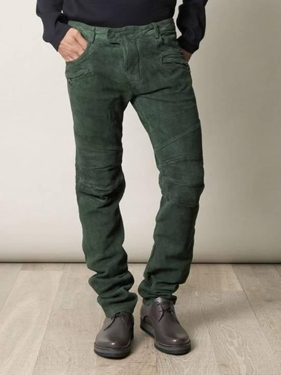 Balmain Suede biker pants Size US 34 / EU 50