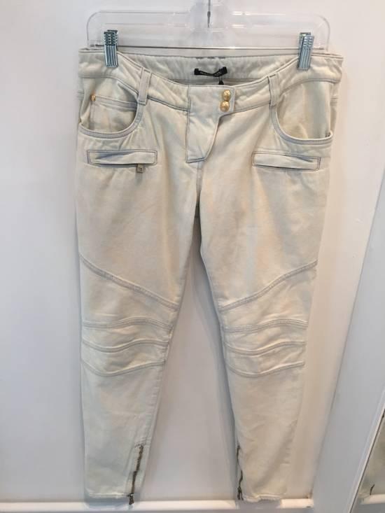 Balmain Women's Balmain Spring/Summer 2015 Biker Jeans Size US 36 / EU 52
