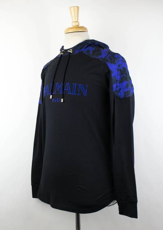 Balmain Black Cotton Shoulder Detail Hoodie Sweatshirt Shirt S Size US S / EU 44-46 / 1 - 1