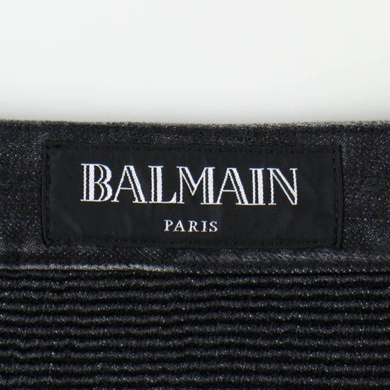 Balmain Blue Denim Distressed Slim Fit Biker Jeans Pants Size US 30 / EU 46 - 5