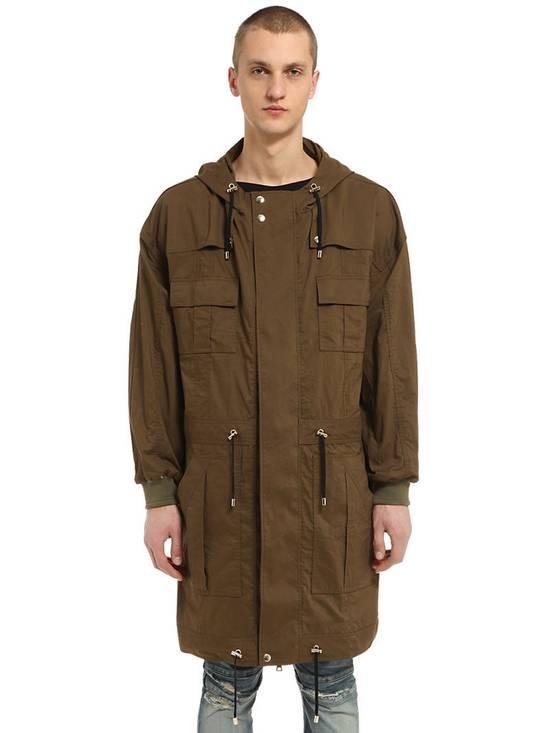 Balmain Balmain Multi Pocket Hooded Cotton Khaki Canvas Authentic $2730 Parka Size S New Size US S / EU 44-46 / 1 - 4