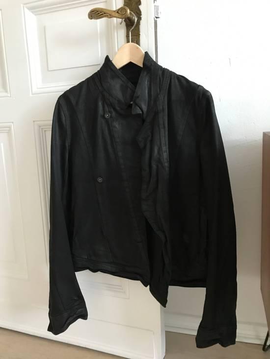 Julius SS/16 Black Waxed Denim Jacket Size US M / EU 48-50 / 2 - 1
