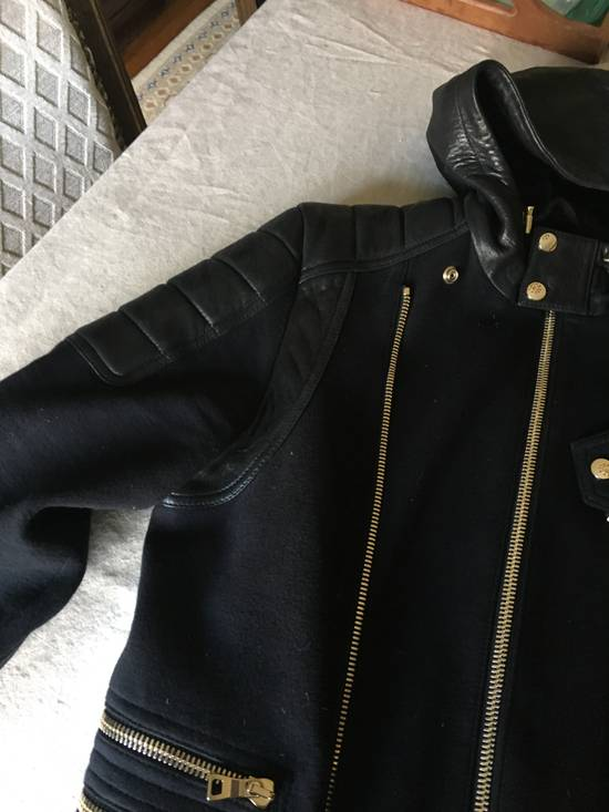 Balmain Spring Navy Bomber with Black Leather SS17 Size US L / EU 52-54 / 3 - 3
