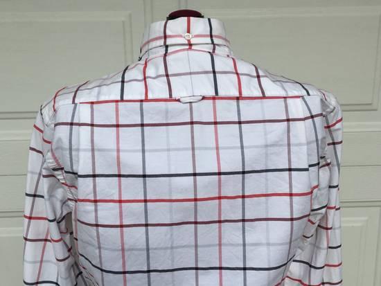 Thom Browne Red/Blue Windowpane Oxford Shirt L/S Size US S / EU 44-46 / 1 - 3