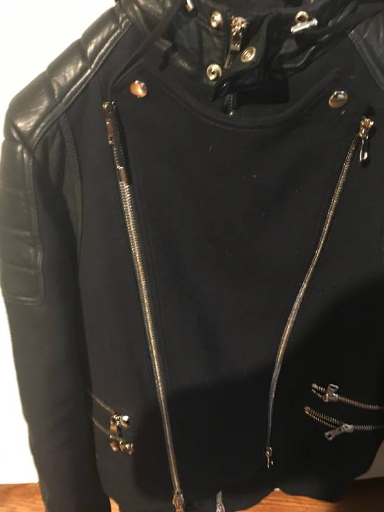 Balmain Spring Navy Bomber with Black Leather SS17 Size US L / EU 52-54 / 3 - 1