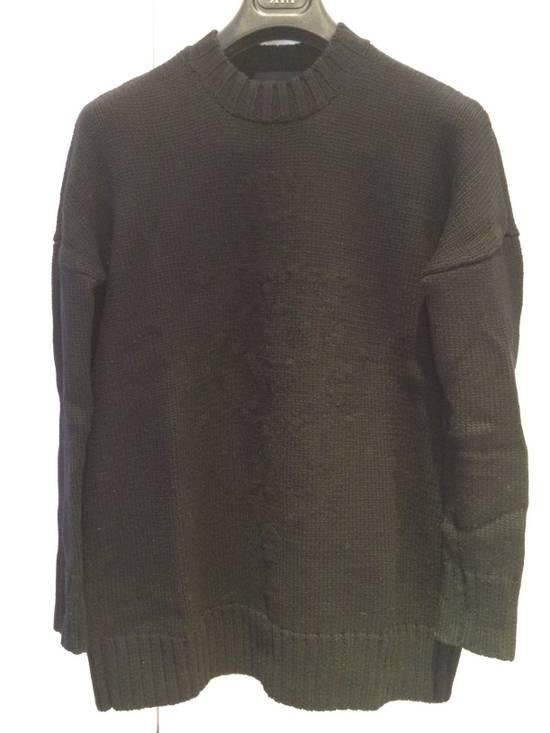 Givenchy FW09 Oversized Black Sweater Anchor Intarsia Size US XS / EU 42 / 0 - 1