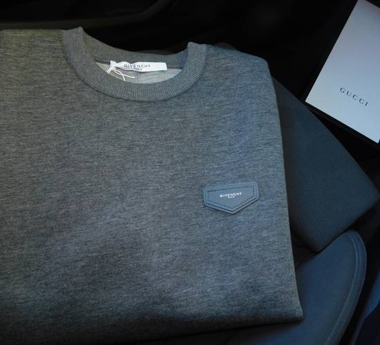 Givenchy New SS18 Givenchy Patch Sweatshirt In Neoprene Grey 100% Authentic Below RRP Size US L / EU 52-54 / 3