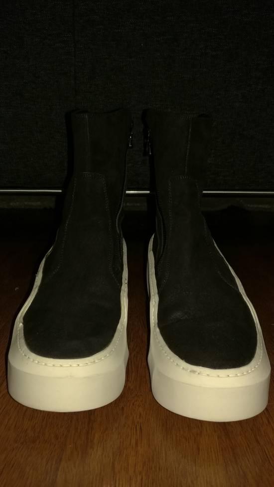 Julius HI Top Goat Nubuck Coated Polygon Platform Sneakers Size US 11 / EU 44 - 2