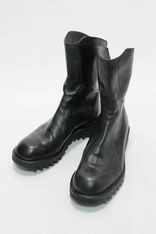 Julius Black Coated Calf High-zip Boots Size2 Size US 9.5 / EU 42-43