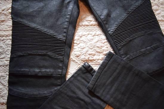 Balmain Balmain Authentic $1090 Waxed Denim Biker Jeans Size 32 Skinny Fit Brand New Size US 32 / EU 48 - 1