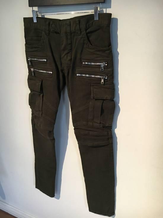 Balmain Balmain Cargo Green Biker Jeans Size US 31