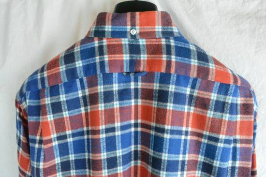 Thom Browne Red White Blue Plaid Flannel Thick Cotton Casual Shirt 3 4 5 X-Large Size US XL / EU 56 / 4 - 6
