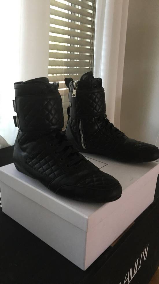 Balmain Quilted Leather Sneaker Size US 9 / EU 42
