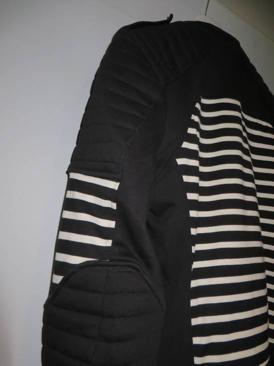Balmain Stripped cotton biker jacket Size US XXL / EU 58 / 5 - 10