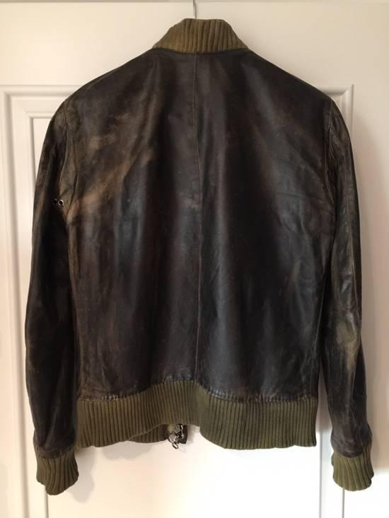 Balmain Decarnin Green Leather Teddy Boy Jacket Size US M / EU 48-50 / 2 - 7