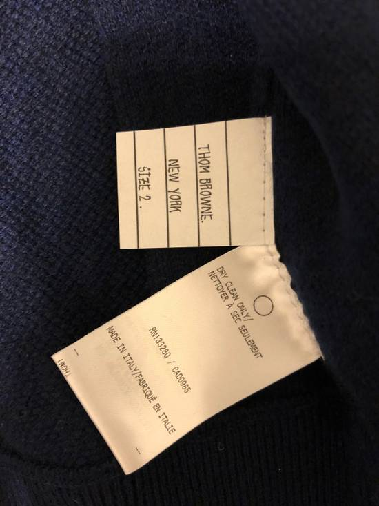 Thom Browne THOM BROWNE Striped Cashmere Zip-Up Hoodie Size US M / EU 48-50 / 2 - 4