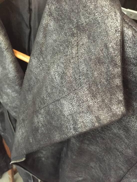 Julius FW07 Black/Silver Coated Cotton Jacket Size US M / EU 48-50 / 2 - 3