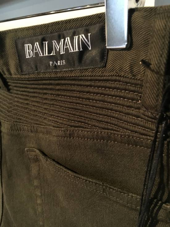 Balmain Balmain Cargo Green Biker Jeans Size US 31 - 3