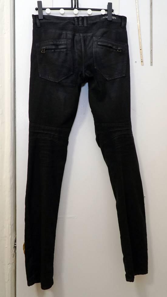 Balmain Waxed biker jeans black Size US 32 / EU 48 - 3