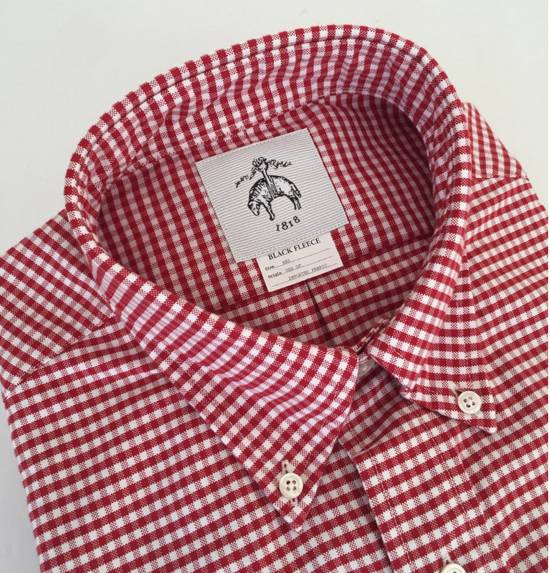 Thom Browne Red Gingham Oxford Button-Down Shirt Size US L / EU 52-54 / 3