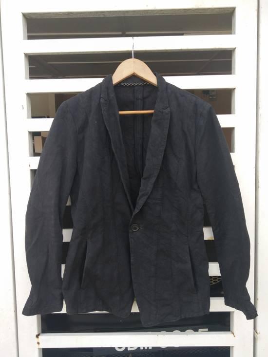 Julius Julius 2004 The Structure Black Cotton Coat Jacket Blazer Size US S / EU 44-46 / 1