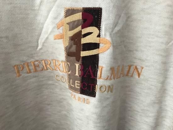 Balmain Vintage Sweater Pierre Balmain Collection Spellout logo embroidery authentic Size US L / EU 52-54 / 3 - 2