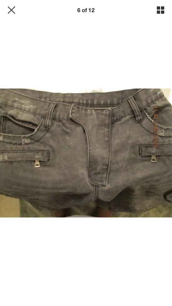 Balmain Beautiful Balmain Grey Denim Biker Jeans Size US 34 / EU 50 - 4