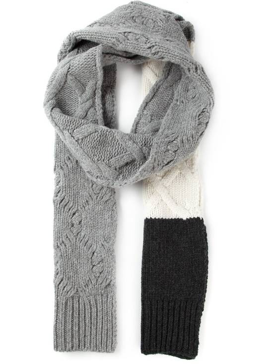 Thom Browne GAMME BLEU Cable Knit Long Wool Scarf Size ONE SIZE