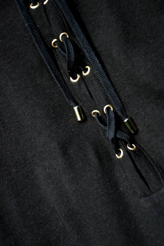 Balmain Black Lace-up Long Sleeved T-Shirt Size US XL / EU 56 / 4 - 4