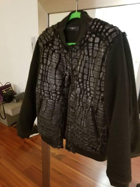 Givenchy Givenchy Black Embossed Crocodile Bomber Jacket Varsity Sample Size 48 50 Paint Size US M / EU 48-50 / 2 - 1