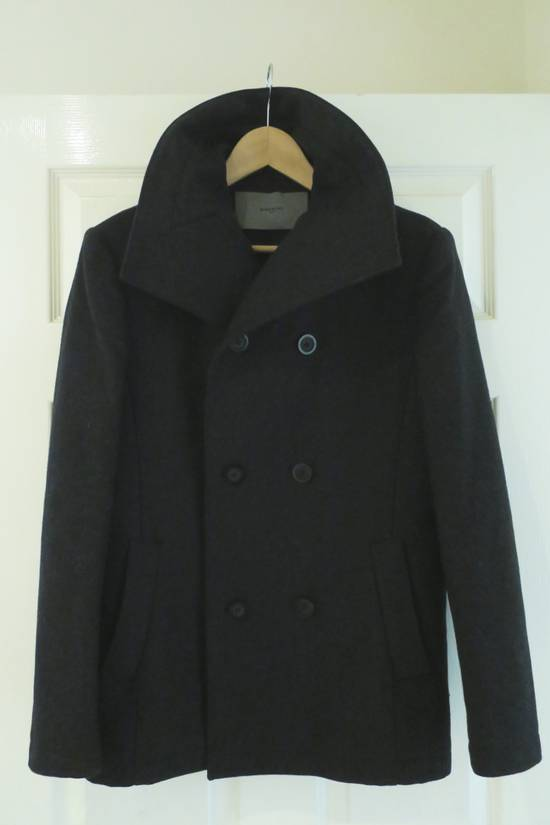 Givenchy BLACK WOOL DOUBLE BREASTED PEA COAT Size US M / EU 48-50 / 2