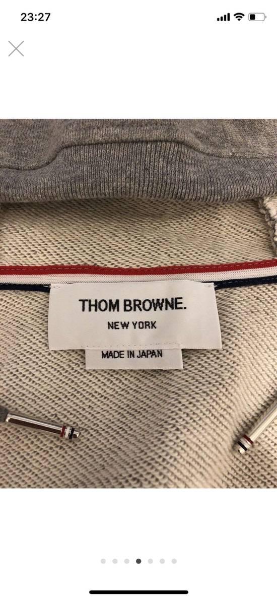 Thom Browne Grey Classic Full Zip Hoodie Size US L / EU 52-54 / 3 - 2
